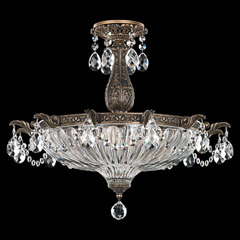 "Schonbek Milano 22 1/2""W Midnight Gild Crystal Ceiling Light"