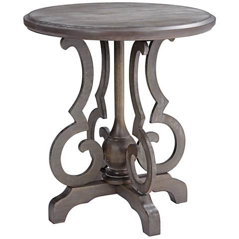 Kensington Burnished Oak Round Accent Table