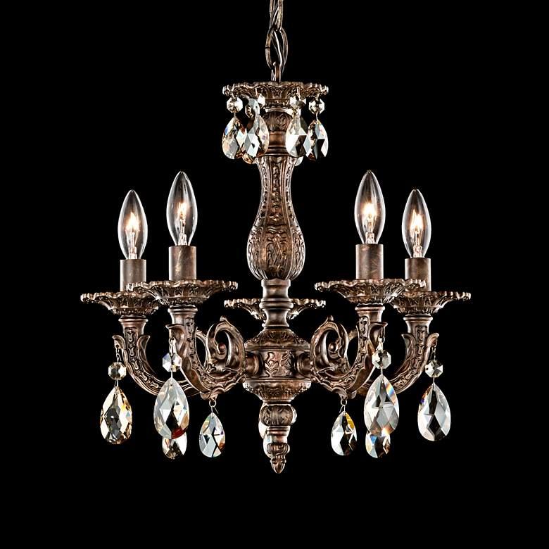 """Schonbek Milano 13 1/2""""W Heirloom Bronze Crystal Chandelier"""