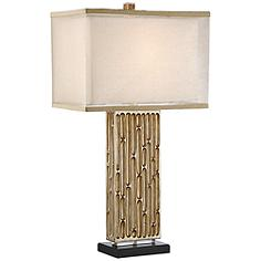 Possini Euro Celine Gold Wash Table Lamp