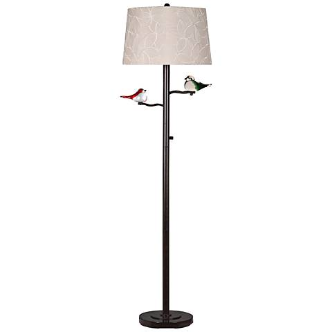 Dale Tiffany Finch Oil Rubbed Bronze Metal LED Floor Lamp