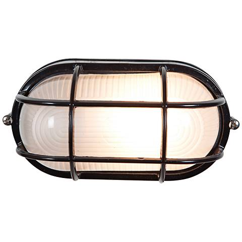 "Nauticus 4 1/4"" High Black LED Outdoor Wall Light"