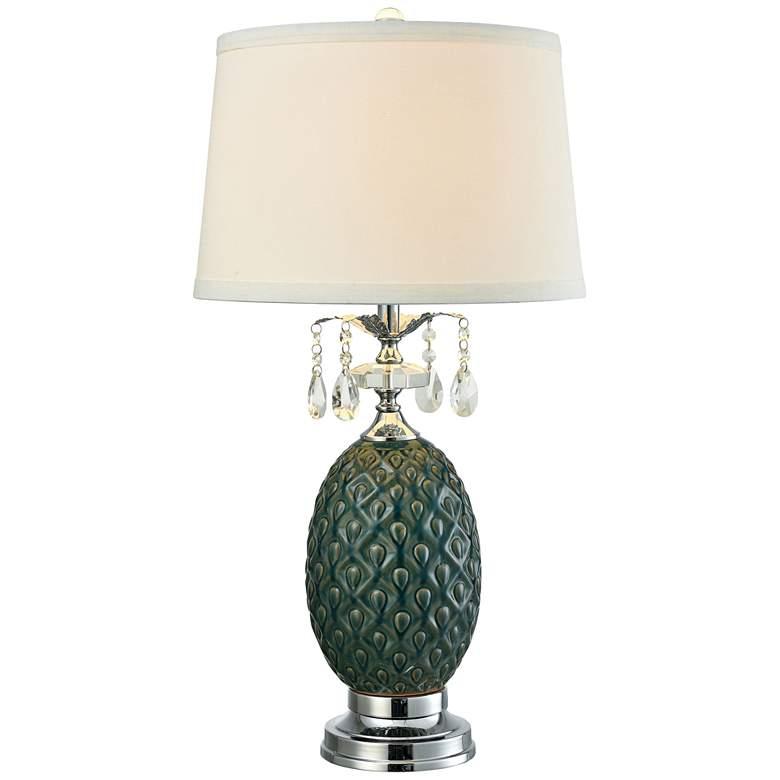 Dale Tiffany Maxie Turtleback Amber Ceramic LED Table