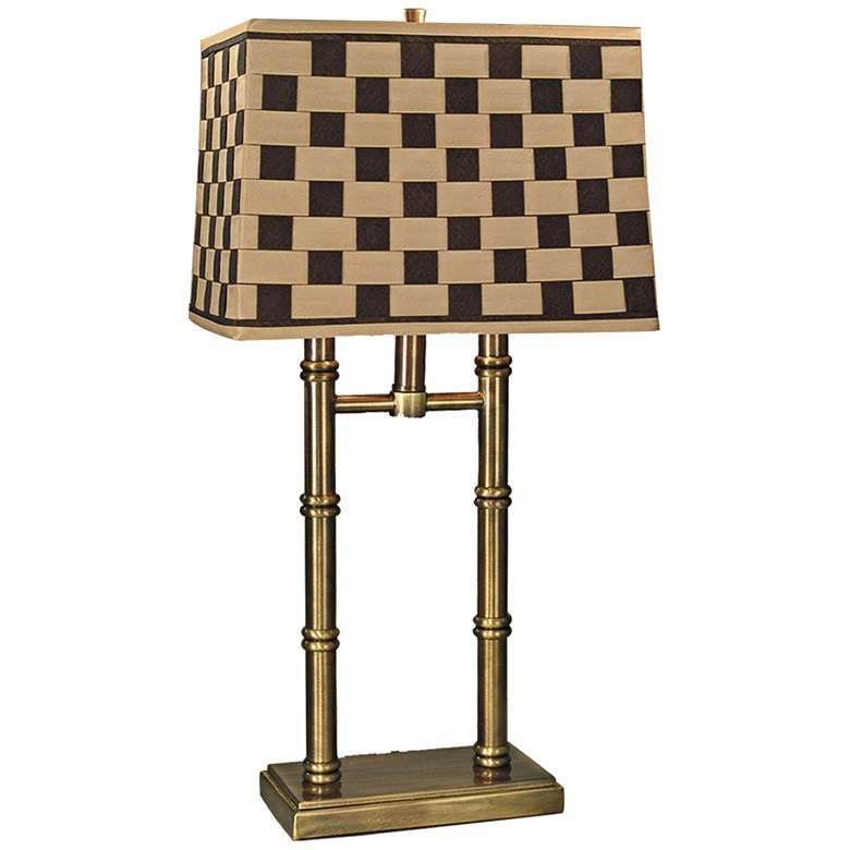 Dale Tiffany Laredo Antique Brass Table Lamp