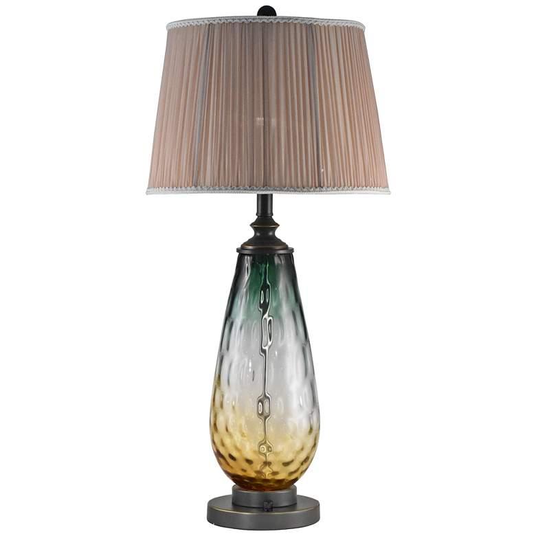 Dale Tiffany Boylen Smoky Ombre Green Glass LED