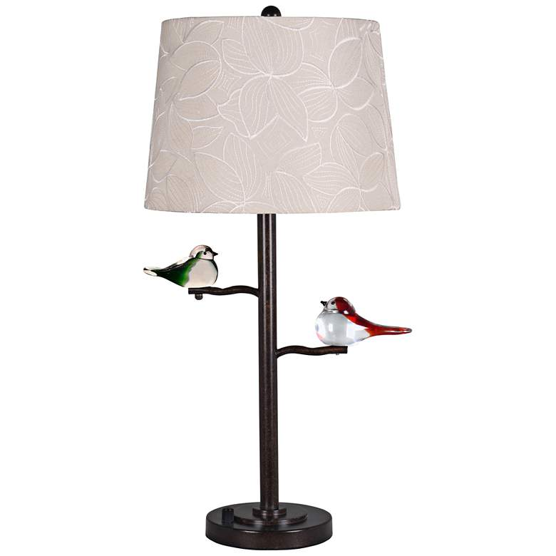 Dale Tiffany Finch LED Oil Rubbed Bronze Metal Table Lamp