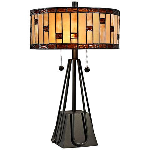 "Mojave Pyramid 19""H Dark Bronze Table Lamp by Dale Tiffany"
