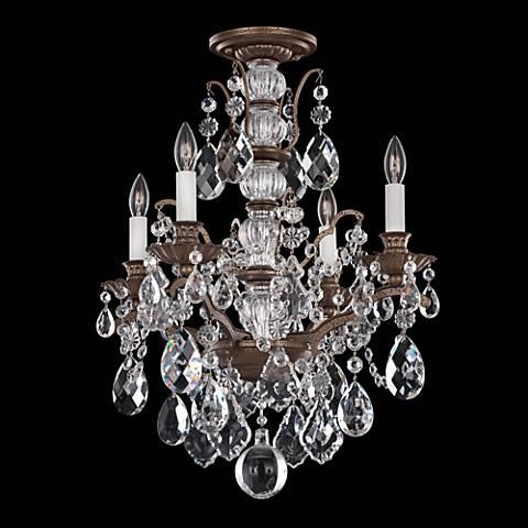 """Schonbek Bordeaux 17 1/2""""W Textured Bronze Ceiling light"""