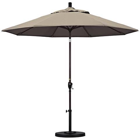 Pacific Trails 9-Foot Taupe Fabric Round Market Umbrella