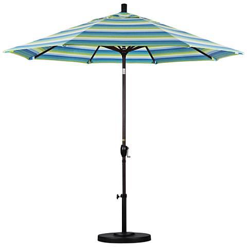 Pacific Trails 9-Foot Seville Seaside Round Market Umbrella