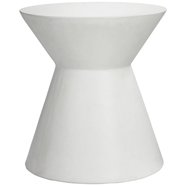 """Astley 20"""" White Concrete Indoor-Outdoor Modern End Table"""