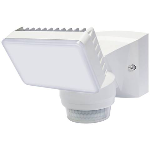 "Advanced 8"" High White 180-Degree LED Security Flood Light"