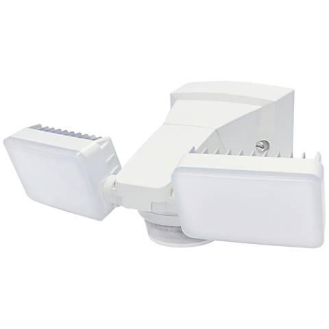 """Advanced 11""""H White 180-Degree 2-Lamp LED Flood Light"""