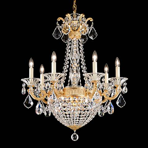 "La Scala Empire 23 1/2"" Wide French Gold Crystal Chandelier"