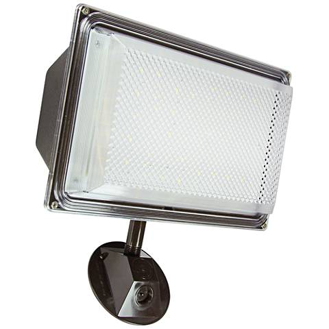 "Security 13""H Textured Black Dusk to Dawn LED Flood Light"