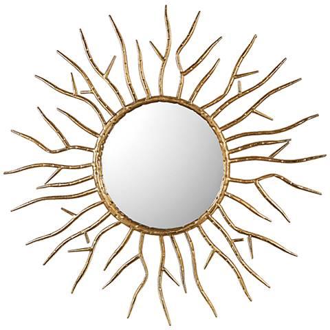 "Uttermost Astor Antiqued Gold Leaf 28"" Round Wall Mirror"