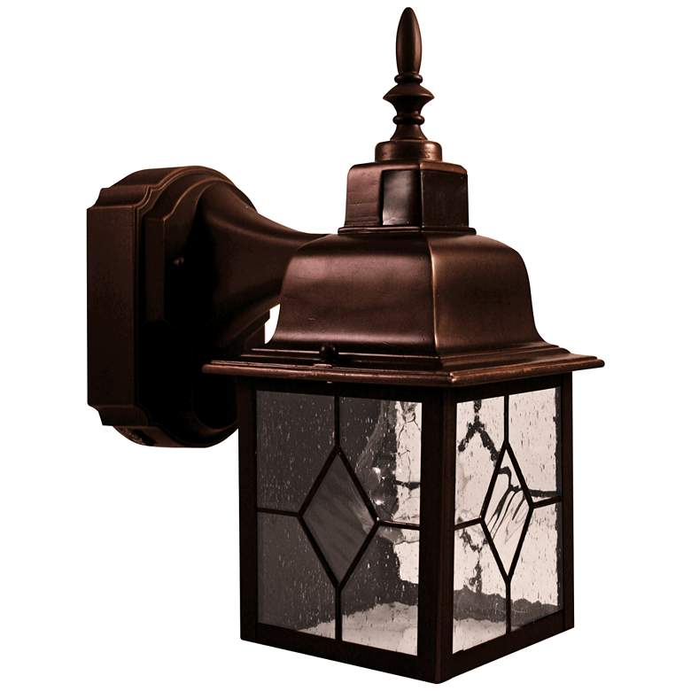 Antique Bronze 11 3 4 H Motion Activated Outdoor Wall Light