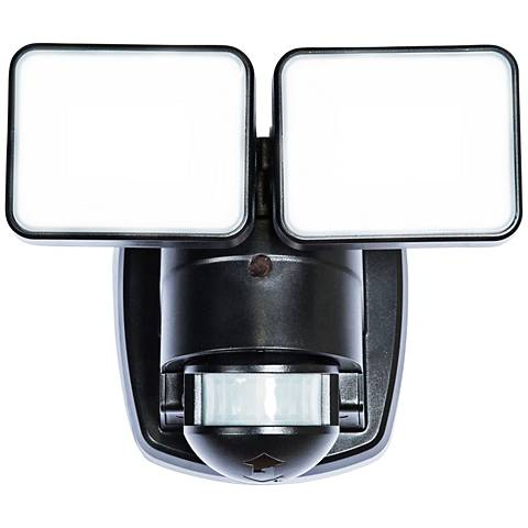Black 1250 Lumen Motion-Activated LED Security Light