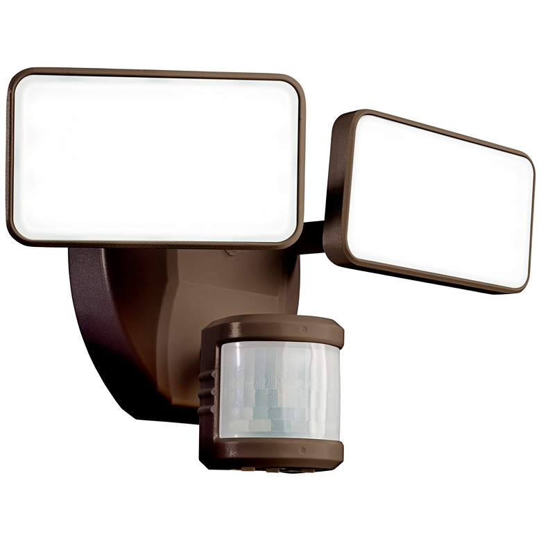 Bronze Finish DualBrite Motion-Activated LED Security Light