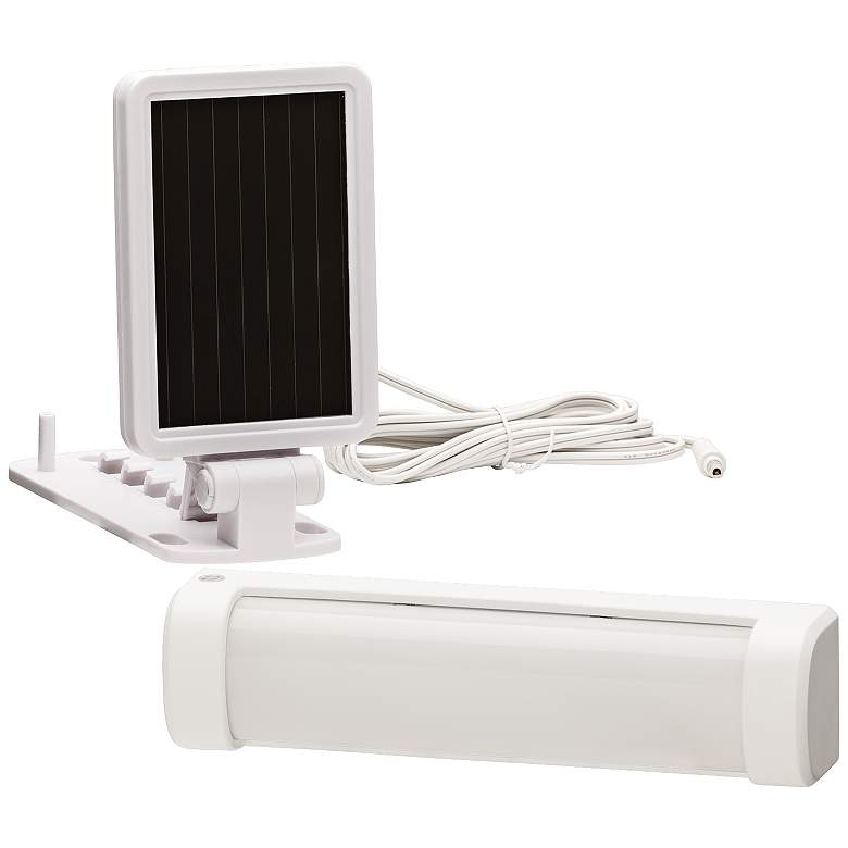 White Solar Powered LED Security Light