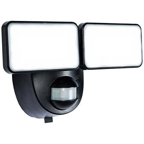 Motion-Activated Battery-Powered LED Security Light in Black