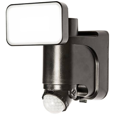 Black 300 Lumen Motion-Activated Solar LED Security Light