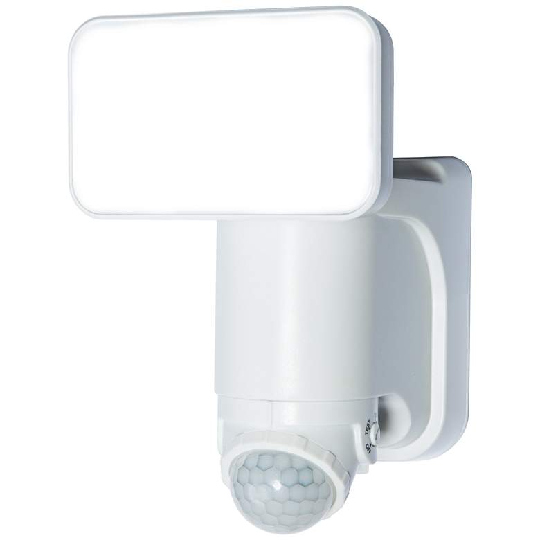 White 300 Lumen Motion-Activated Solar LED Security Light