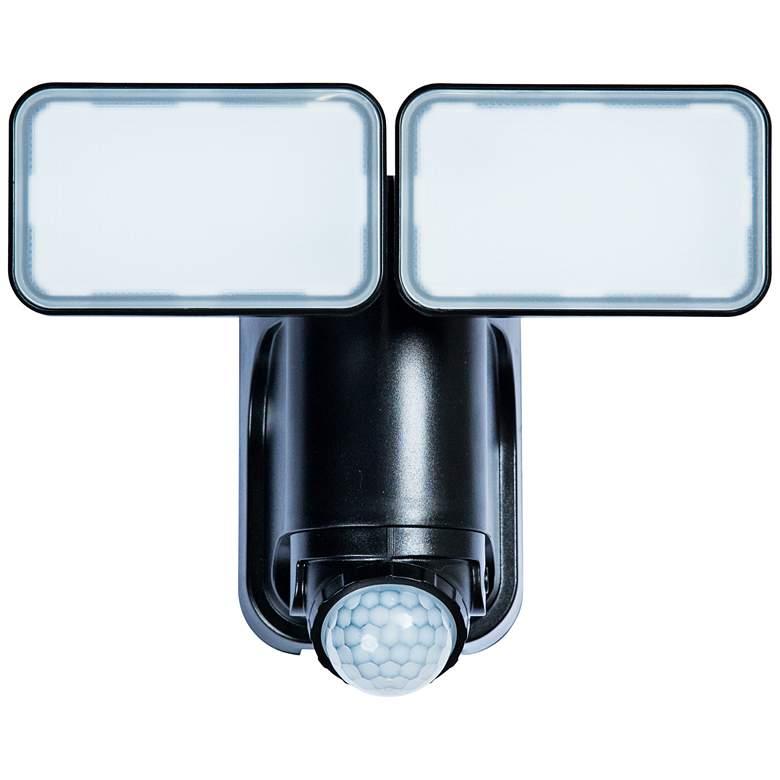Black 600 Lumen Motion-Activated Solar LED Security Light