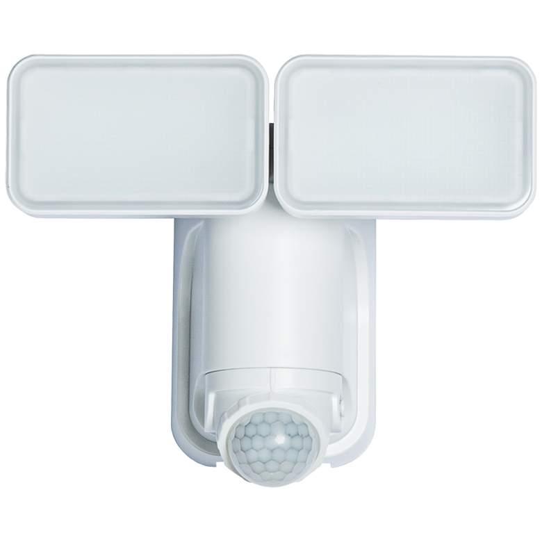 White 600 Lumen Motion-Activated Solar LED Security Light