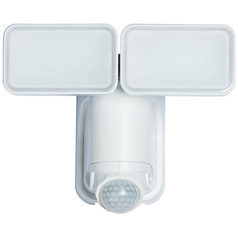 White 600 Lumen Motion-Activated Solar LED Security Light