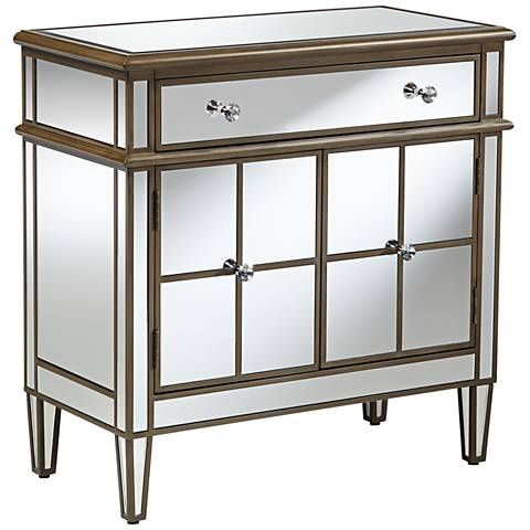 Vicenta 1-Drawer 2-Door Mirrored Contemporary Accent Chest
