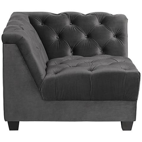 Hampstead Gray Velvet Modular Corner Chair