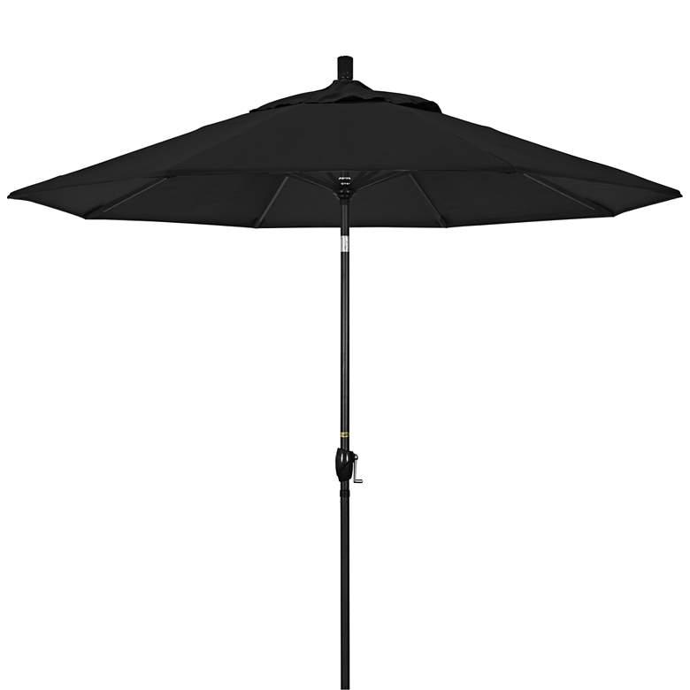 Pacific Trail 9' Black Sunbrella Crank Patio Umbrella