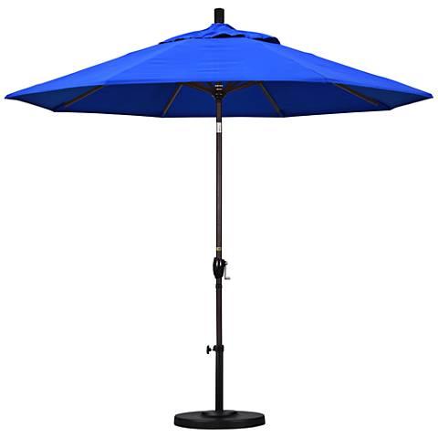 Pacific Trails 9-Foot Pacific Blue Round Market Umbrella