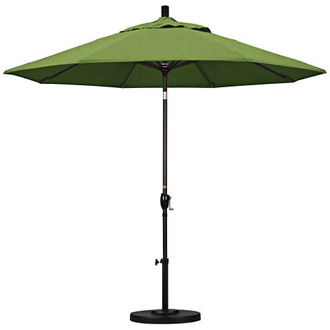 Pacific Trails 9-Foot Cilantro Fabric Round Market Umbrella
