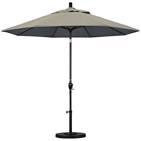 Pacific Trails 9-Foot Spectrum Dove Round Market Umbrella