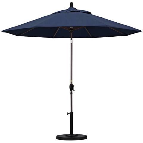 Pacific Trails 9-Foot Indigo Fabric Round Market Umbrella