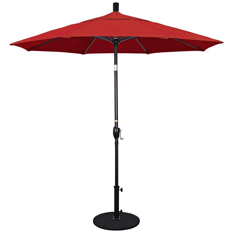 Pacific Trails 7 1/2-Foot Jockey Red Round Market Umbrella