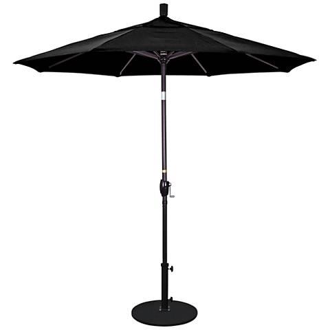 Pacific Trails 7 1/2-Foot Black Round Market Umbrella