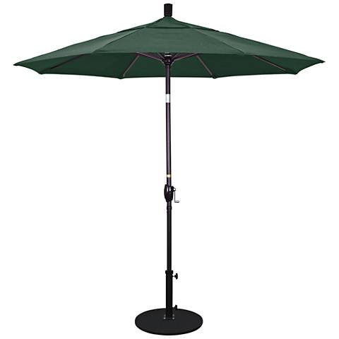 Pacific Trails 7 1/2-Foot Forest Green Round Market Umbrella