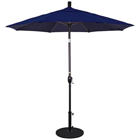 Pacific Trails 7 1/2-Foot Navy Round Market Umbrella