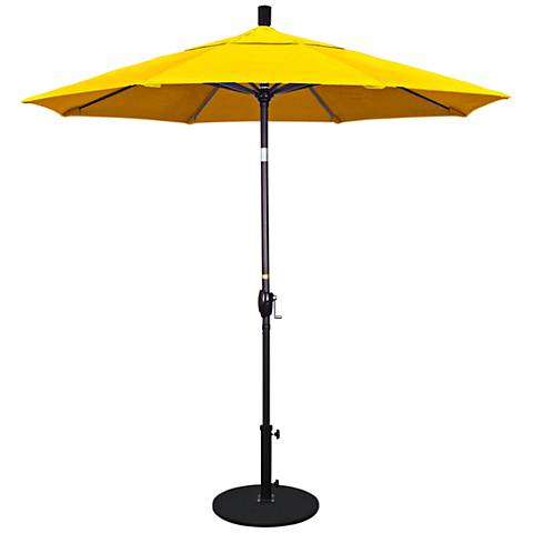 Pacific Trails 7 1/2-Foot Sunflower Yellow Round Market Umbrella