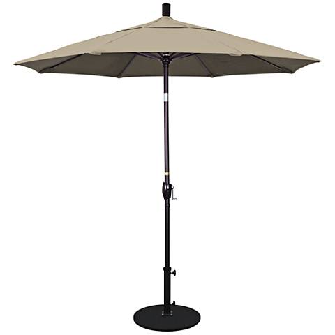 Pacific Trails 7 1/2-Foot Taupe Round Market Umbrella