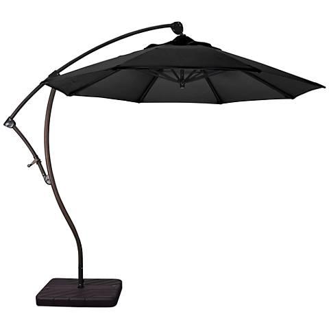 Bayside 9 1/4-Foot Black Fabric Cantilever Market Umbrella