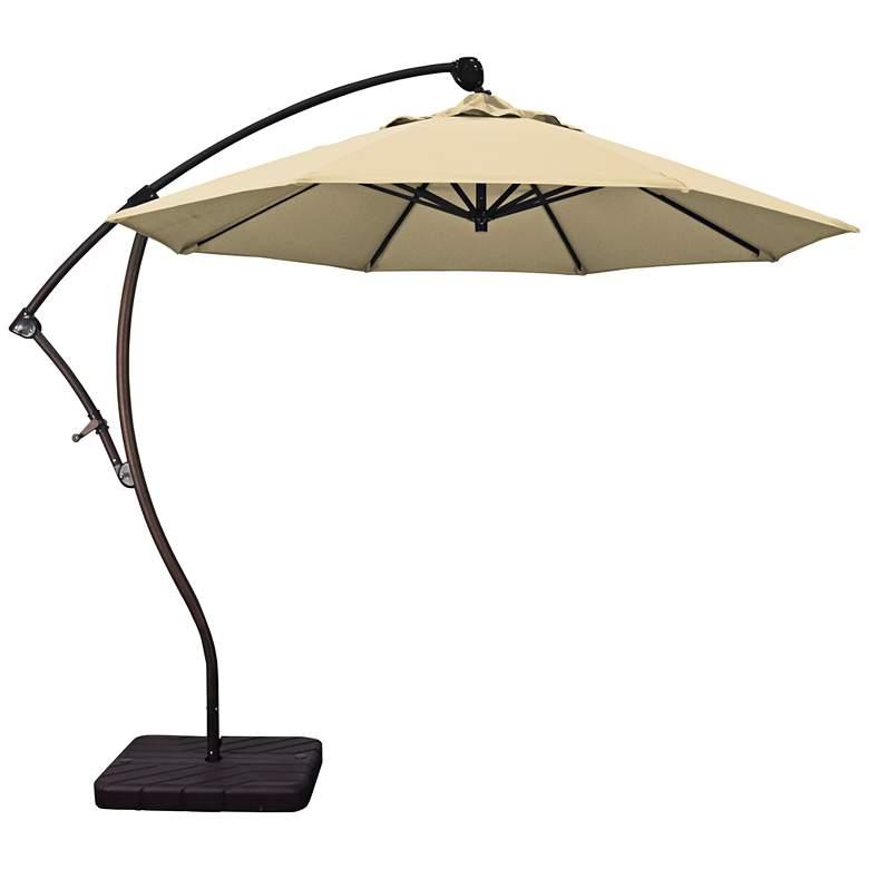 Bayside 9 1/4-Foot Antique Beige Cantilever Market Umbrella