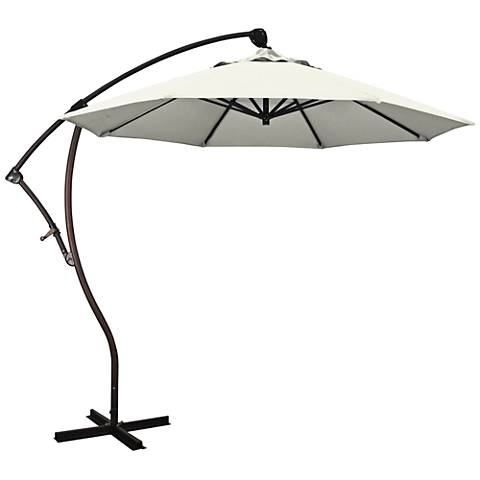 Bayside 9 1/4-Foot Canvas Fabric Cantilever Market Umbrella