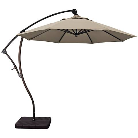 Bayside 9 1/4-Foot Taupe Fabric Cantilever Market Umbrella