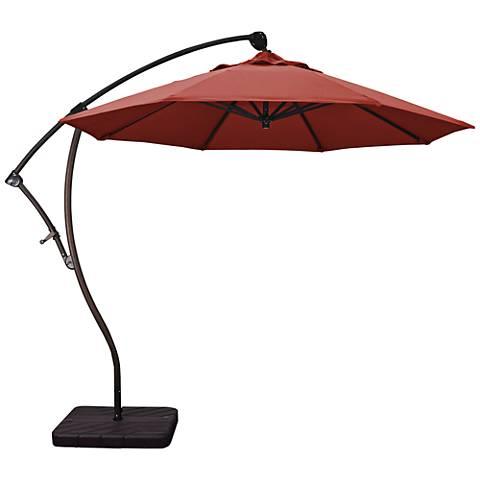 Bayside 9 1/4-Foot Henna Fabric Cantilever Market Umbrella