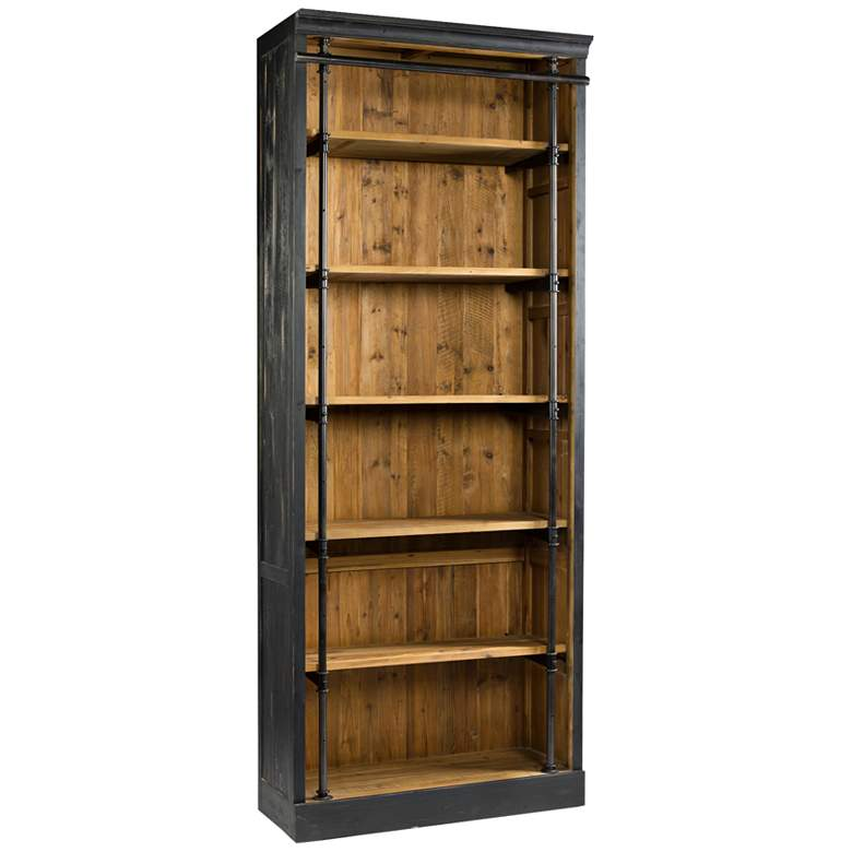 """Sea View 102 1/4"""" High Rustic Reclaimed Wood Bookcase"""