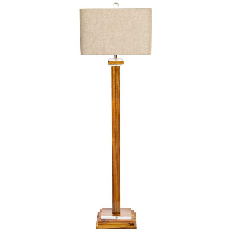 Couture Brentwood High Gloss Brown Stain Floor Lamp